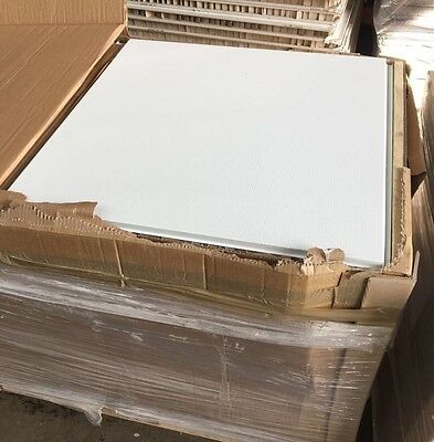 Brand New Acoustic Metal Suspended Ceiling Tiles - SAS System 130 - RAL 9016
