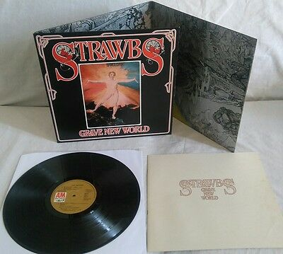STRAWBS Grave New World LP 1972 A&M 1st Press + BOOKLET!! SUPERB!!!!