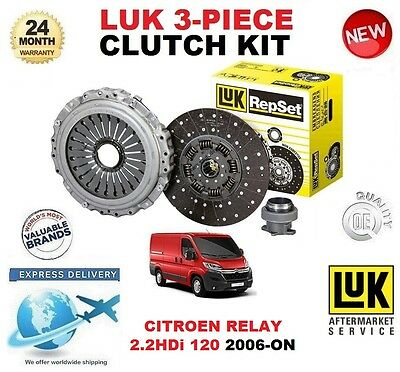 Bus 4HU P22DTE CITROËN RELAY 2.2HDi 120 3 Piece Clutch Kit Bearing 120 04//06