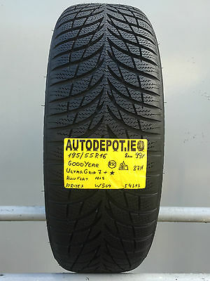 195/55R16 GOODYEAR ULTRA GRIP 7 RSC 87H Part worn tyre (W509) AS NEW