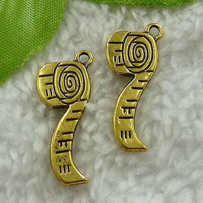 Free Ship 200 pieces gold plated tobacco pipe charms 27x11mm #1340