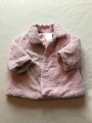 Baby Girls Clothes 3-6 Months - Cute Girl Pink Soft Faux Fur Jacket