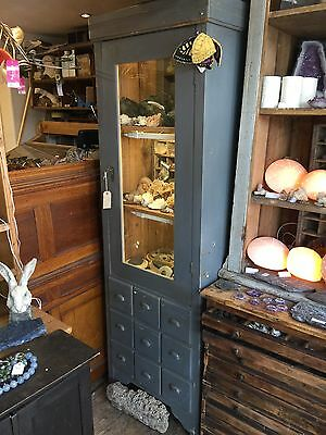 Antique Painted Glazed Cupboard