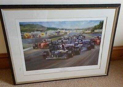 David Coulthard Limited Edition Print Triple Achievement Alan Fearnley