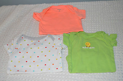 3 months unisex baby shirts snapping bottoms 3 piece bundle