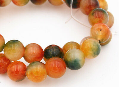 """Natural Multicolor candy jade gemstone 10mm Round Loose Beads 15""""AAA"""
