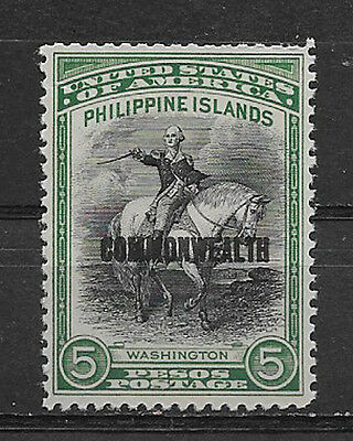 PHILIPPINES , USA , 1936/37 , WASHINGTON/CW ,  5p STAMP.  PERF, MNG