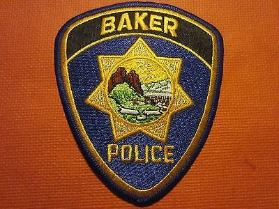 Collectible Montana Police Patch, Baker, New