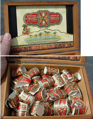 Over 100 Fuente Opus X Cigar Bands and Box