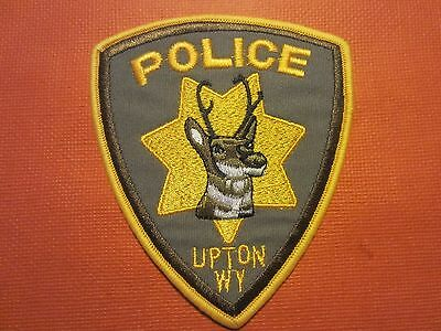 Collectible Wyoming Police Patch, Upton, New
