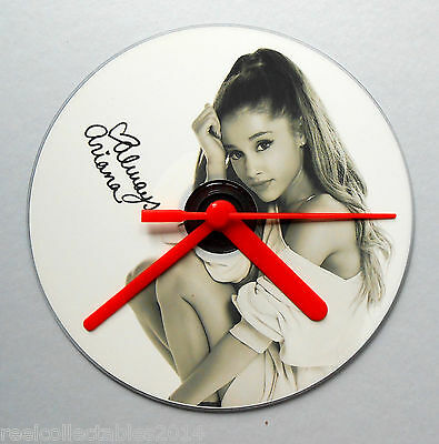 Ariana Grande Exclusive Signed Cd Clock Choice 5 Hand Colours Unique Fan Gift