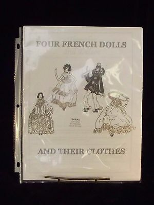 Four French Dolls & Their Clothes Pattern-Boudoir Type Dolls-Pierrot, Gypsy, Etc