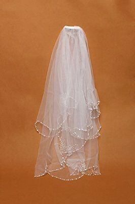 Elegant Wedding Bridal Veil Edge Veil With Crystals Rhinestone Diamond White New
