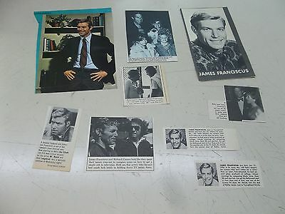 Jim James Franciscus lot of clippings  #702