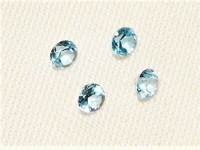 "TOPAZ FACETED NATURAL ROUND CUT 4PCS, 3MM 1.3ct ""NEW"" AUZ SELLER C143"