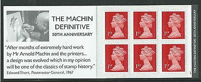 GREAT BRITAIN 2017 THE MACHIN DEFINITVE 50th ANNIVERSARY BOOKLET CYLINDER NUMBER