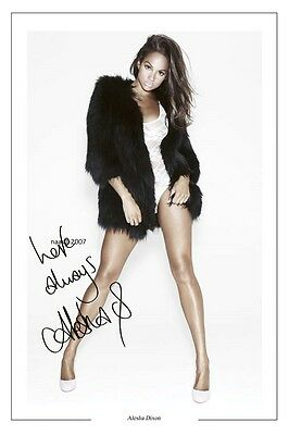 4x6 SIGNED AUTOGRAPH PHOTO PRINT OF ALESHA DIXSON #38