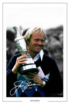 4x6 SIGNED AUTOGRAPH PHOTO PRINT OF JACK NICKLAUS #42