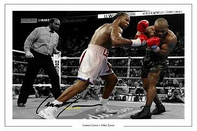 4x6 SIGNED AUTOGRAPH PHOTO PRINT OF LENNOX LEWIS HEAVY WEIGHT BOXING CHAMP #42