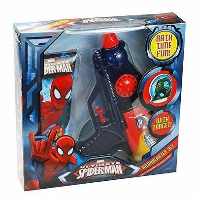 Marvel Ultimate Spiderman Aquablaster Gift Set - Bath Time Fun/ next day del
