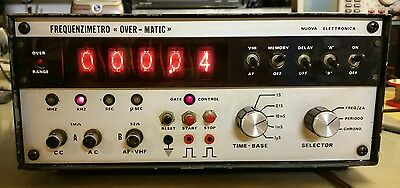 Frequency Counter Meter  frequenzimetro OVER MATIC NUOVA ELETTRONICA AF VHF