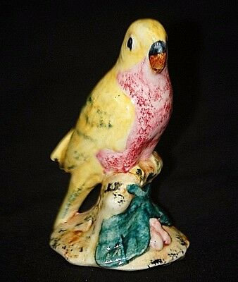 Old Vintage Stangl Art Pottery Parakeet Bird Figurine 3400 1942 ~ 1947 Stamped