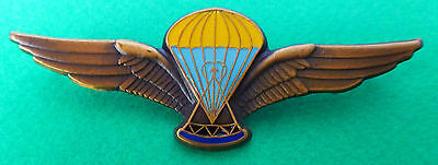 LESOTHO AFRICA AIRBORNE PARACHUTE WING bronzed metal AFRICAN ARMY PARA WINGS