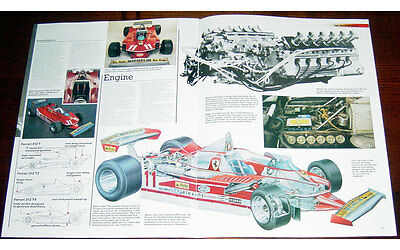 Ferrari 312 T4 Fold-out Poster + Cutaway drawing