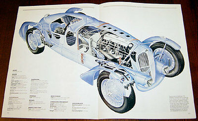 Delahaye 135 - technical cutaway drawing