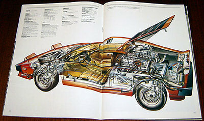 Lotus Esprit - technical cutaway drawing