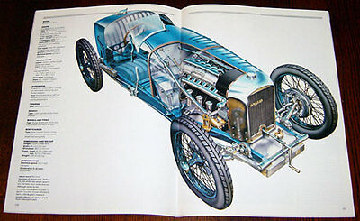 Amilcar Sixes - technical cutaway drawing / Maserati Birdcage - 1/4 page cutaway