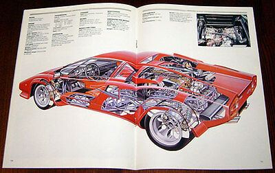 Lamborghini Countach - technical cutaway drawing