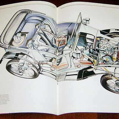 Austin Seven - technical cutaway drawing