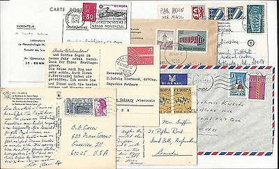 Europa 1960s - 1970s Cover Lot, Mostly International, Wide Range of Countries