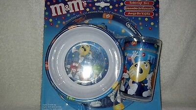 M&M's Blue 3Pc Children's Tabletop Set