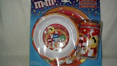 M&M's Orange/Red 3 Pc. Children's Tabletop Set