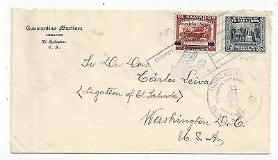 Salvador 1930 Airmail Cover to US, 45c Rate