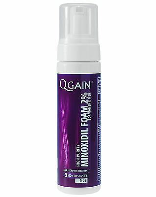 QGAIN MINOXIDIL FOAM 2% 3 Months Supply For Women & Men FREE SHIPPING WORLDWIDE