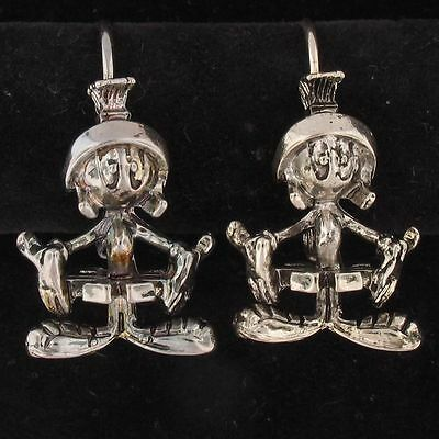 EARRINGS Marvin The Martian WARNER BROS LOONEY TUNES Silver WB STORE 4086