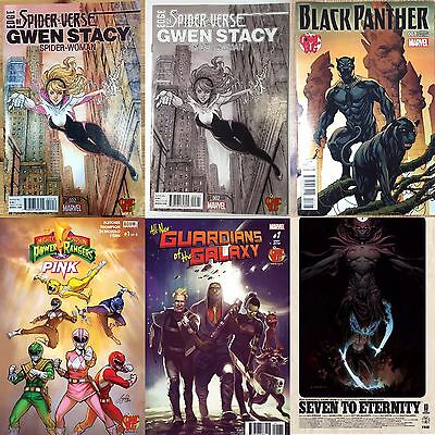 COMIC BUG EXCLUSIVE VARIANT SET 5 Marvel Comics + FREE SEVEN TO ETERNITY Variant