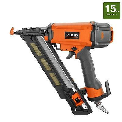 Ridgid 15-Gauge 2-1/2 in. Angled Nailer W/ Bag Model R250AFE Nail Gun Air Nailer