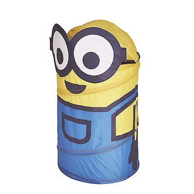 New Minion Minions Pop Up Toy Toys Storage Bin Laundry Childrens Kids Bedroom