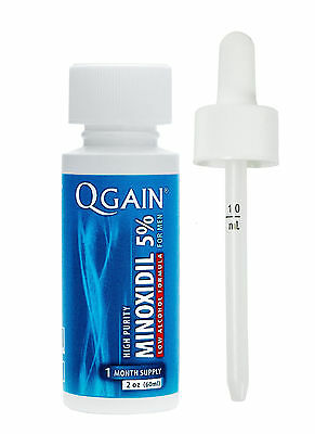 QGAIN MINOXIDIL 5% Low Alcohol Formula 1 MONTH SUPPLY Free Shipping