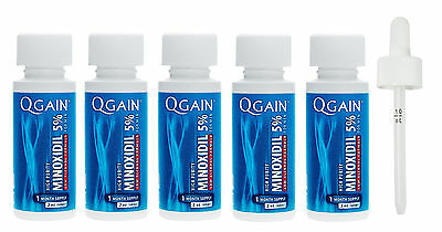 QGAIN MINOXIDIL 5% Low Alcohol Formula 5 MONTH SUPPLY No Box Free Shipping