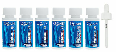 QGAIN MINOXIDIL 5% Low Alcohol Formula 6 MONTH SUPPLY No Box Free Shipping