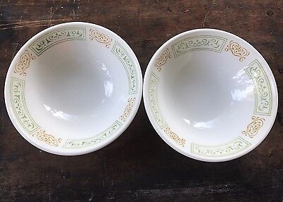Set of 2 Vintage Homer Laughlin Best China Berry/Cereal Bowls Orange & Green