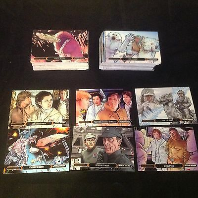 Star Wars Illustrated Empire Strikes Back Complete Card Set by Topps