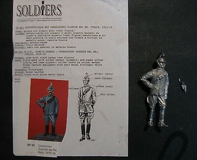 soldatini piombo collezione 54mm Soldiers Carabiniere   tin toy soldiers soldats