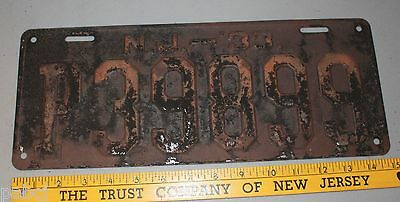 New Jersey License Plate - 1933 - P39888