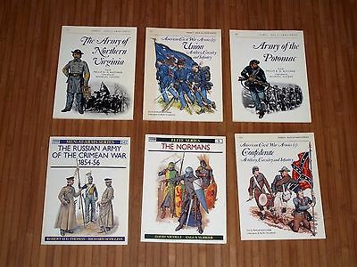 American Civil War Osprey At Arms Series Lot Of(6) Books